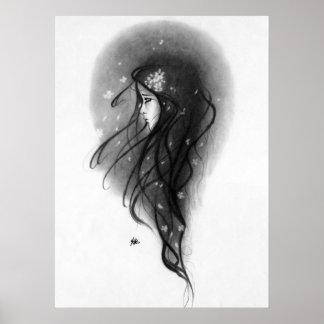 young beautiful emitonal sad girl Poster