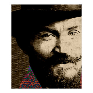 Young Bernard Shaw Closeup Poster