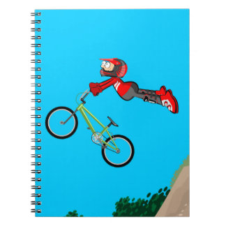 Young bicycle BMX flying by airs Notebook