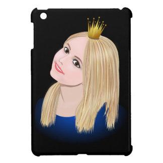 Young blond princess wearing crown iPad mini case