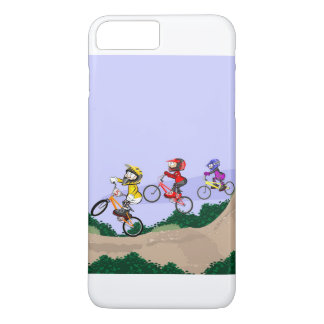 Young BMX cycling lowering the hill with style Case-Mate iPhone Case