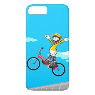 Young BMX gives a jump with the extended arms Case-Mate iPhone Case