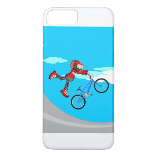 Young BMX gives an intrepid jump in their bicycle Case-Mate iPhone Case