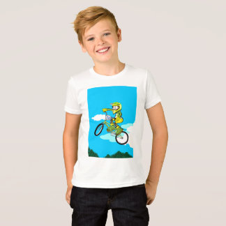 Young BMX in its bicycle doing a pirouette T-Shirt