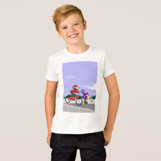 Young BMX in its bicycles competing T-Shirt