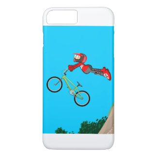 Young BMX of the red equipment gives an extreme Case-Mate iPhone Case