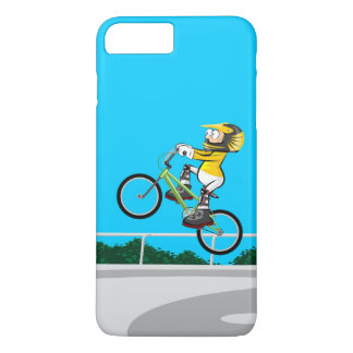 Young BMX taking impulse with its bicycle Case-Mate iPhone Case