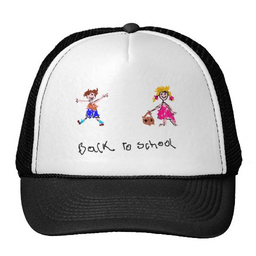 Young Boy and Girl - Back To School Mesh Hat