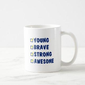 Young brave strong awesome coffee mug