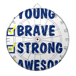 Young brave strong awesome dart board
