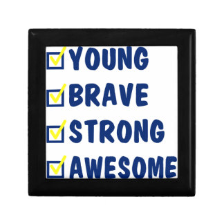 Young brave strong awesome gift box