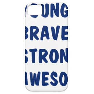 Young brave strong awesome iPhone 5 cases