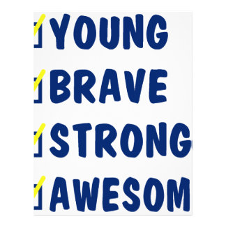 Young brave strong awesome letterhead
