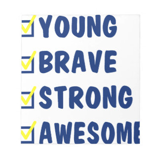 Young brave strong awesome notepad