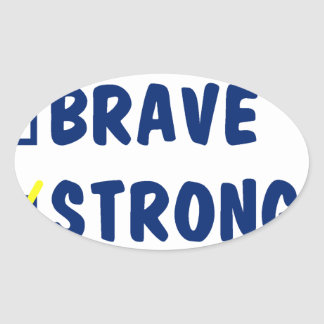 Young brave strong awesome oval sticker