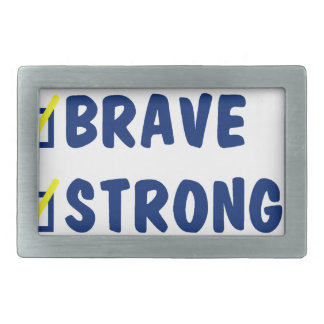 Young brave strong awesome rectangular belt buckles