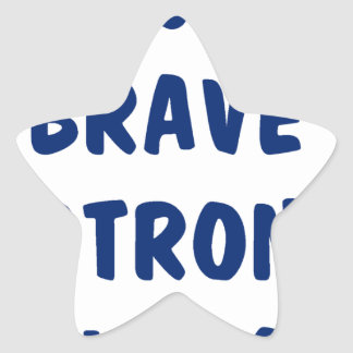 Young brave strong awesome star sticker