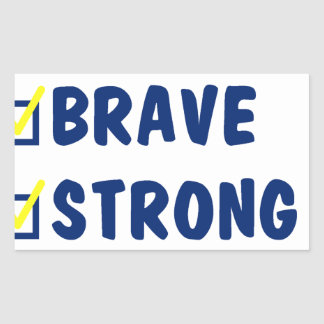 Young brave strong awesome sticker