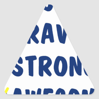 Young brave strong awesome triangle sticker