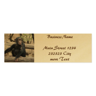 young chimpanzee 02 pack of skinny business cards