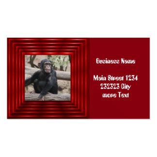 young chimpanzee 02 pack of standard business cards