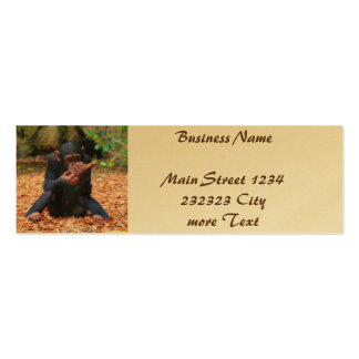 young chimpanzee 03 pack of skinny business cards