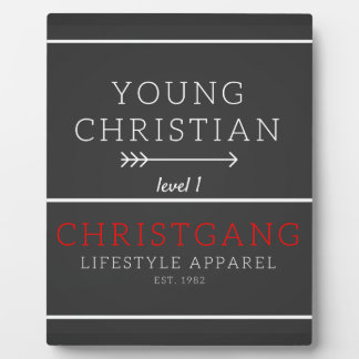 Young Christian - level 1 Plaque