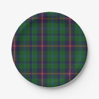 Young Clan Tartan Plaid Paper Plate 7 Inch Paper Plate