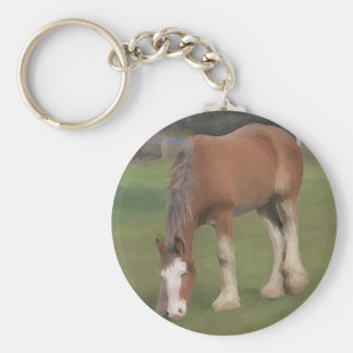 young Clydesdale Keychain