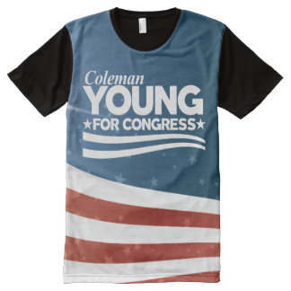 YOUNG - Coleman Young - - All-Over-Print T-Shirt