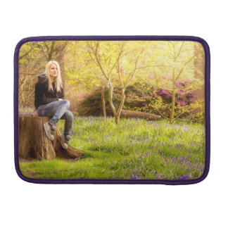 Young cool woman relaxing at spring time sleeve for MacBooks
