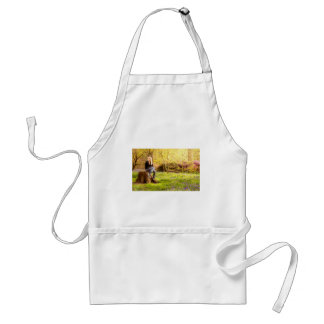 Young cool woman relaxing at spring time standard apron