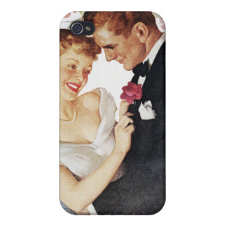 Young couple in formal wear cover for iPhone 4