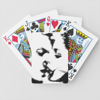 Young couple kiss young kissing poker deck