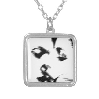 Young couple kiss young kissing silver plated necklace