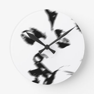 Young couple kiss young kissing wall clock