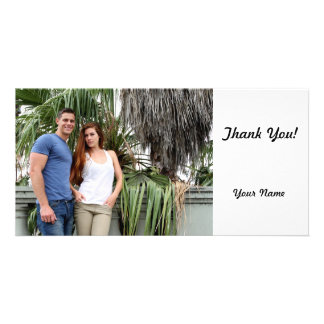 Young Couple Palm Tree Photo Card