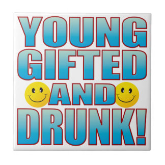 Young Drunk Life B Ceramic Tile