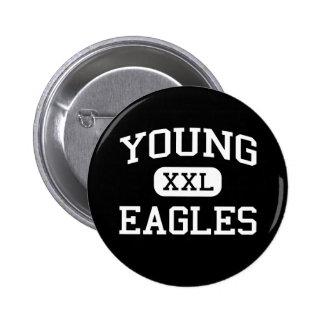 Young - Eagles - Junior - Arlington Texas Pinback Buttons