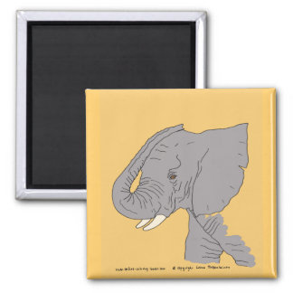 Young Elephant Magnet