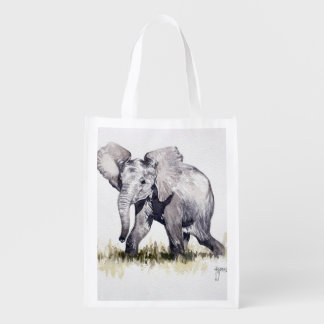Young Elephant Reusable Bag