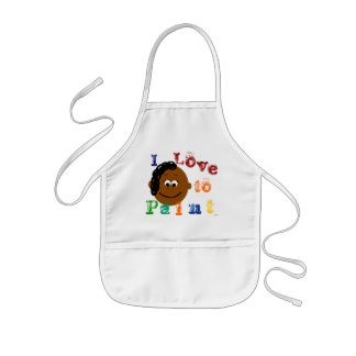 Young Ethnic Girls Painting Apron