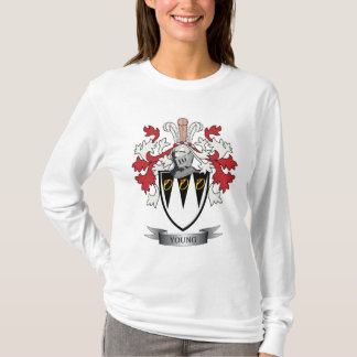 Young Family Crest Coat of Arms T-Shirt