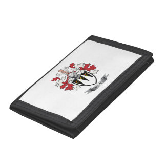 Young Family Crest Coat of Arms Trifold Wallet
