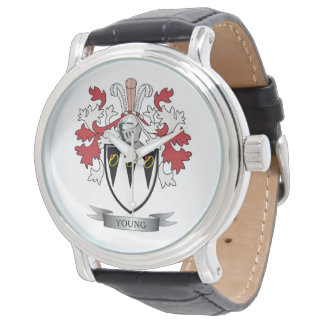Young Family Crest Coat of Arms Watch