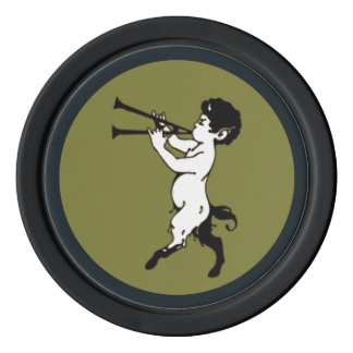 Young Faun With Double Flute Poker Chip Set