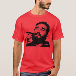 Young Fidel with a Cigar t-shirt