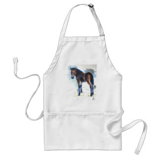 Young Foal Dartmoor Horse Painting Standard Apron