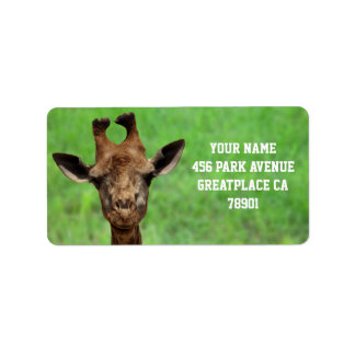 Young Giraffe Address Label