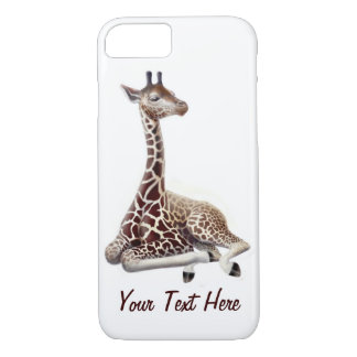 Young Giraffe at Rest iPhone 7 Case